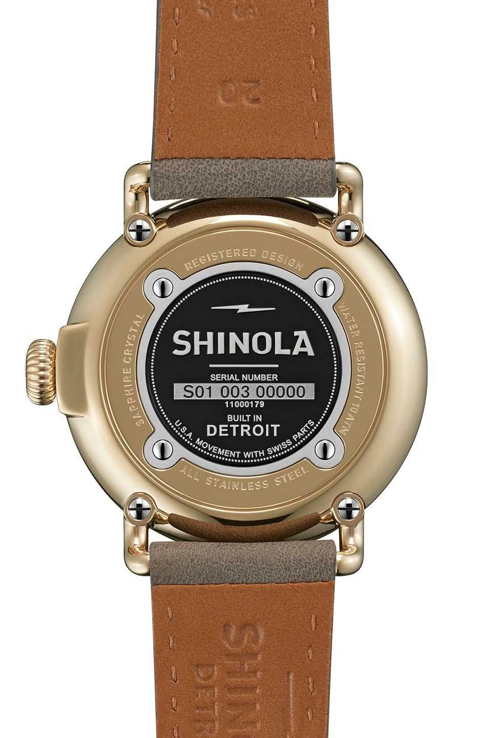 Image 3 of Shinola The Runwell 41mm in Grey & White