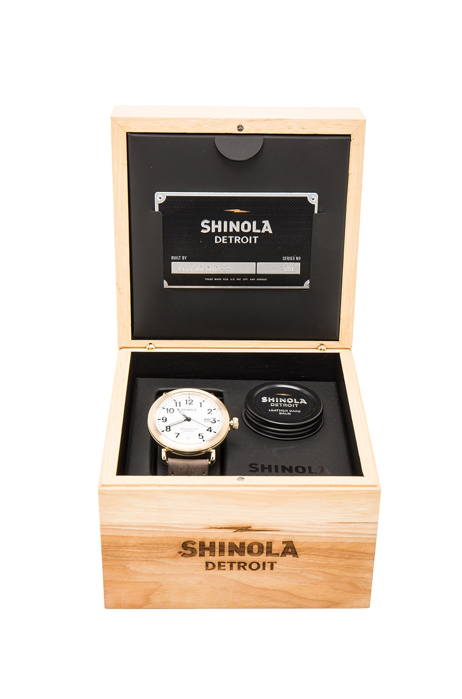 Image 4 of Shinola The Runwell 41mm in Grey & White