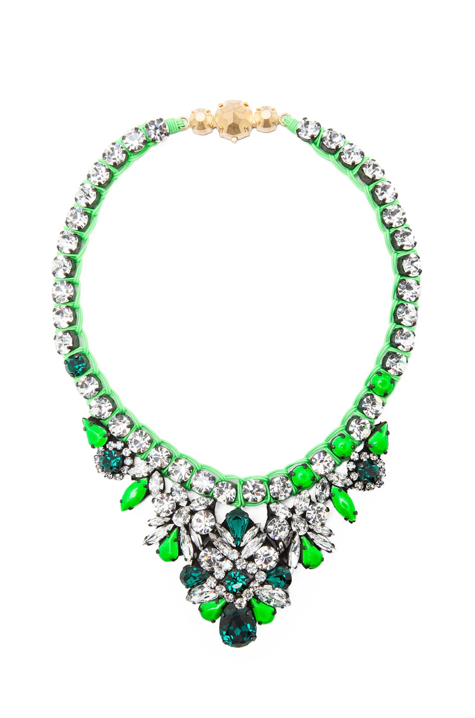 Image 1 of Shourouk Mini Theresa Necklace in Green
