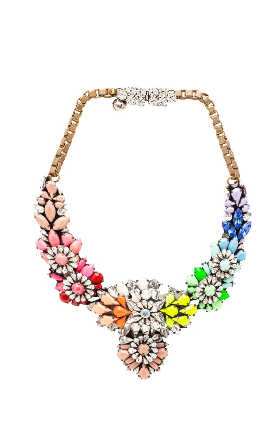 Image 1 of Shourouk Apolonia Necklace in Rainbow