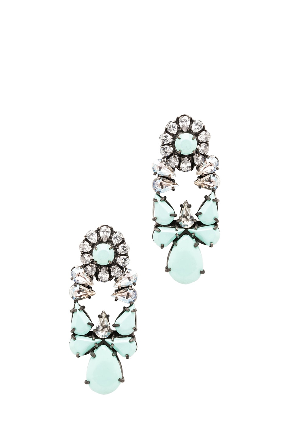 Image 1 of Shourouk Mia Earrings in Mint