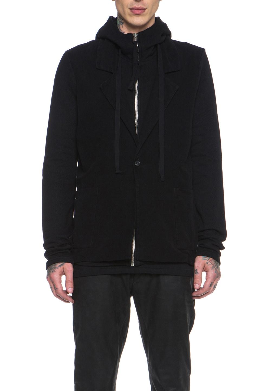 Image 2 of SILENT DAMIR DOMA Cotton Blazer Jacket in Black