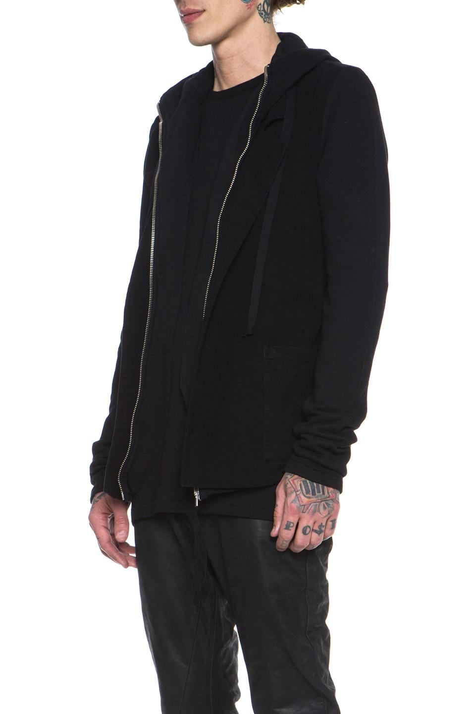 Image 3 of SILENT DAMIR DOMA Cotton Blazer Jacket in Black