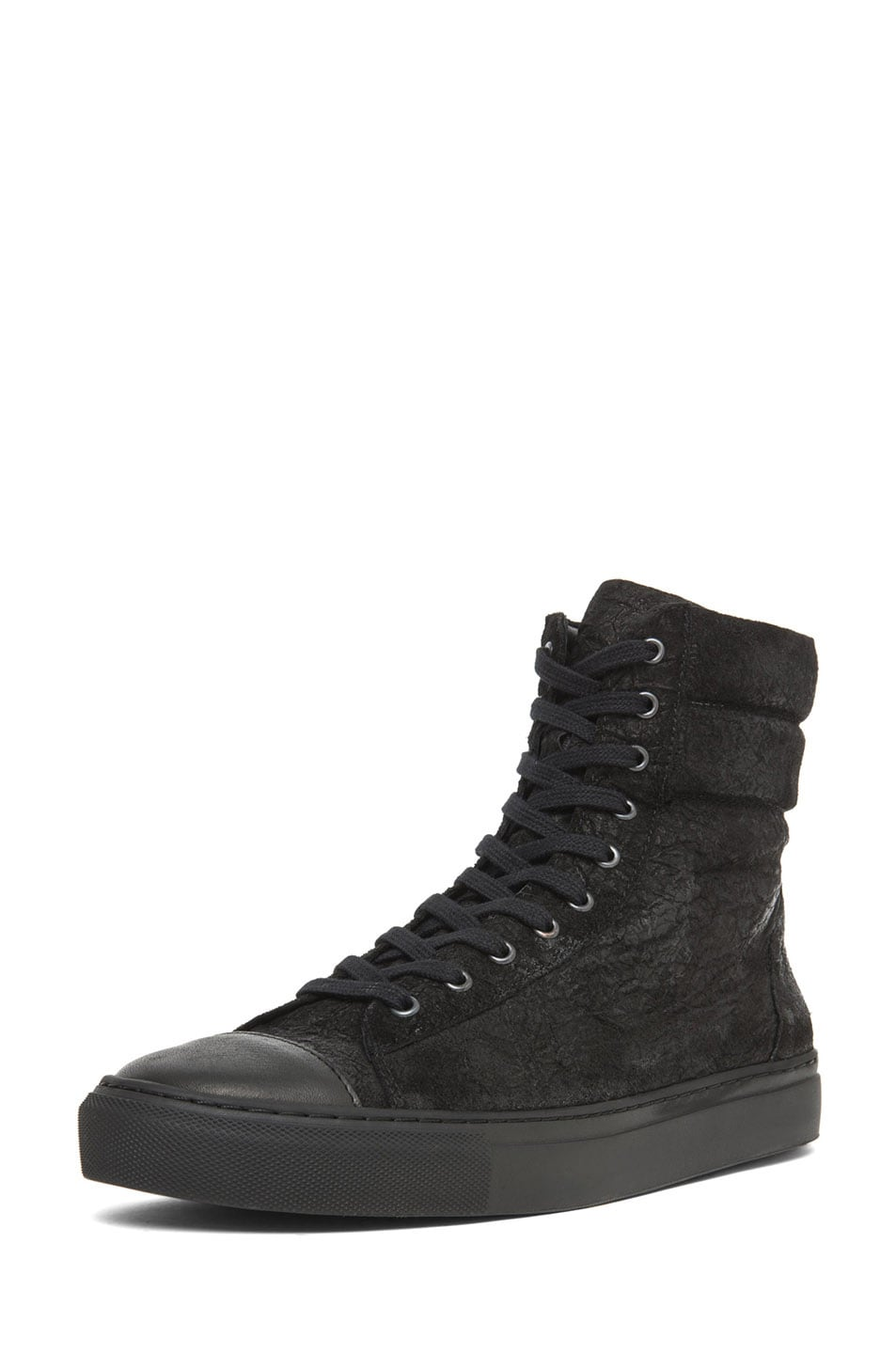 Image 2 of SILENT DAMIR DOMA Satur Leather Sneaker in Black