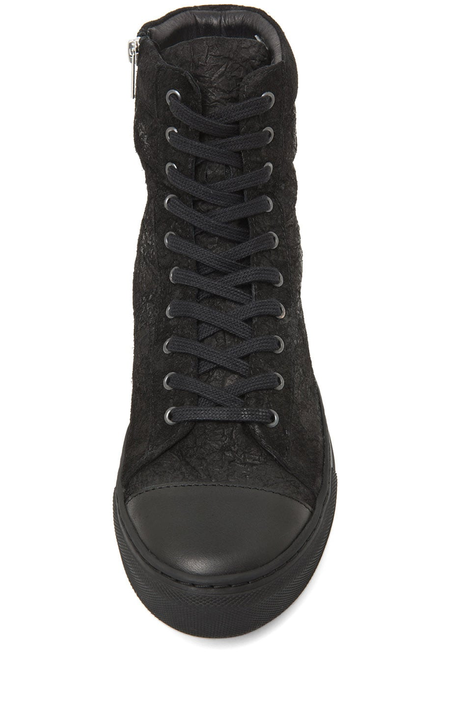 Image 4 of SILENT DAMIR DOMA Satur Leather Sneaker in Black
