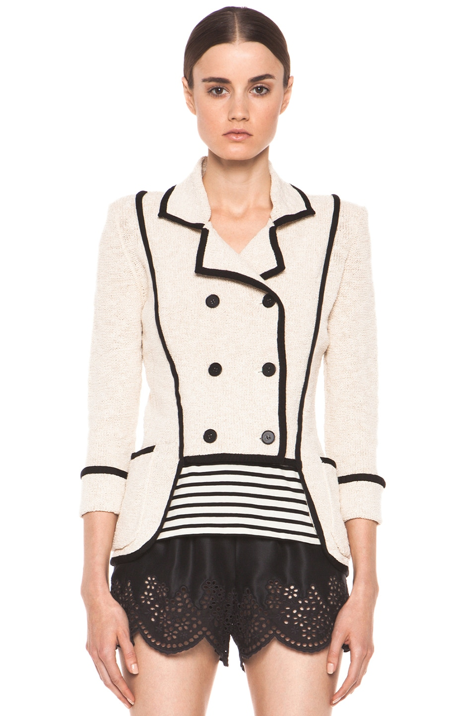 Image 2 of Skaist Taylor Boucle Jacket in Cream