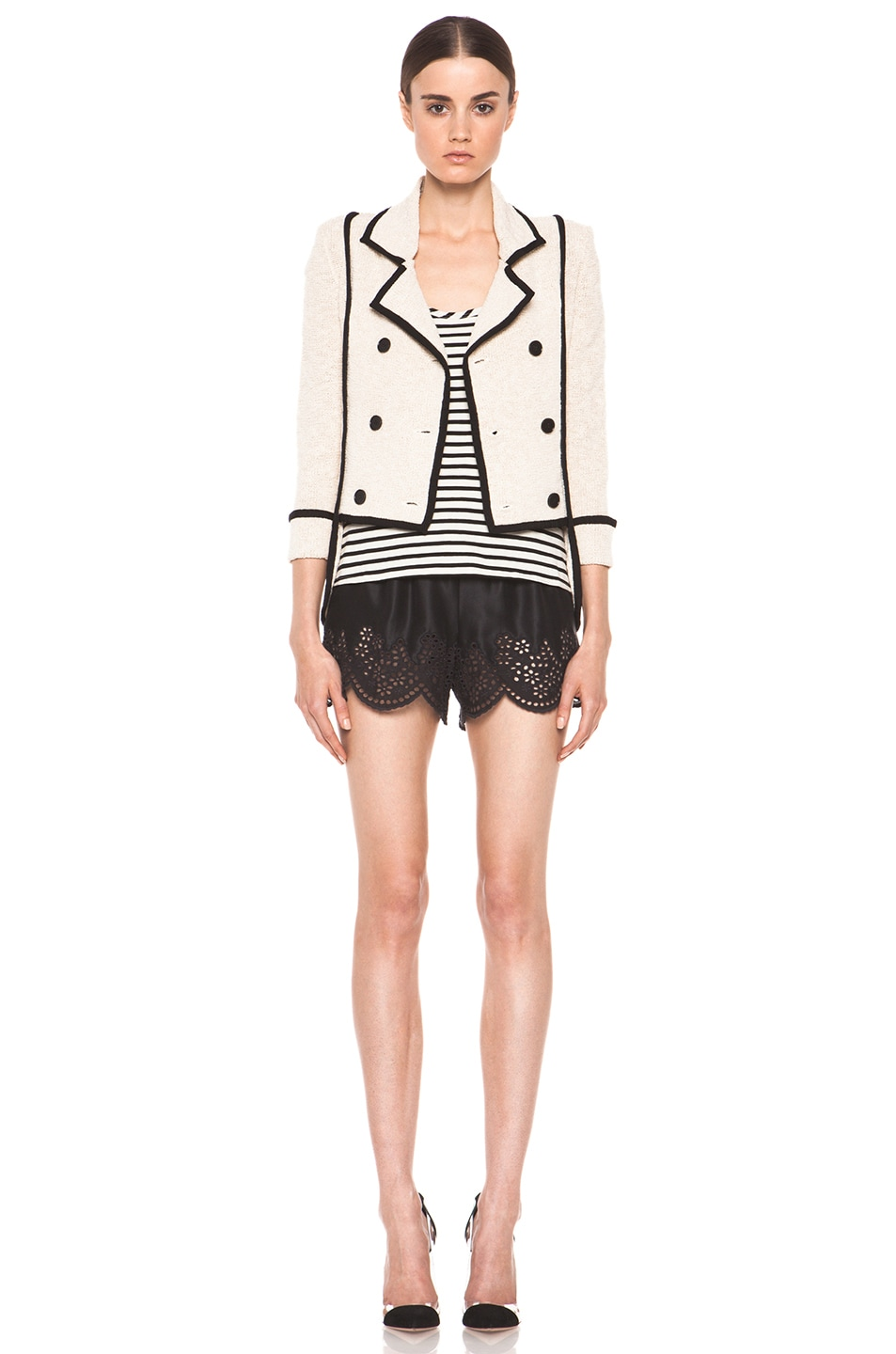 Image 6 of Skaist Taylor Boucle Jacket in Cream