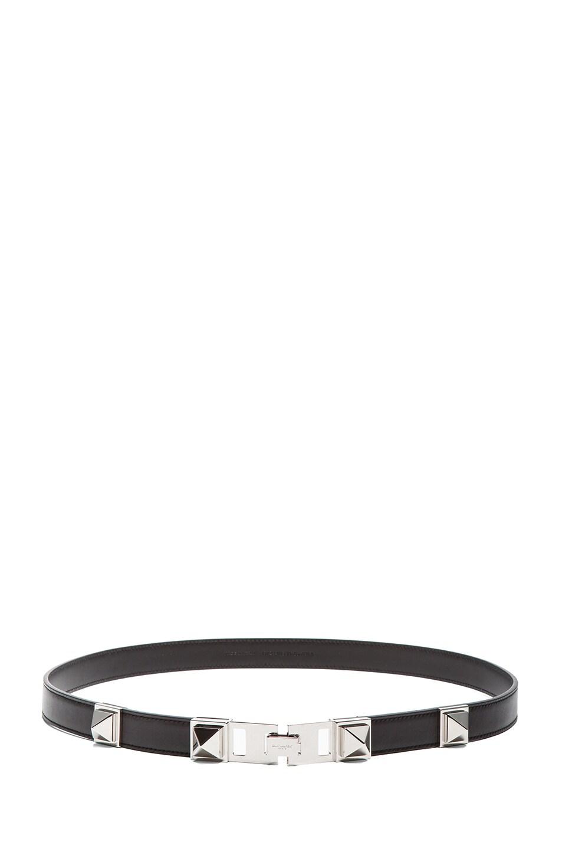 Image 2 of Saint Laurent Bijoux Studded Belt in Silver