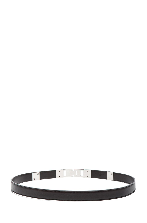 Image 3 of Saint Laurent Bijoux Studded Belt in Silver