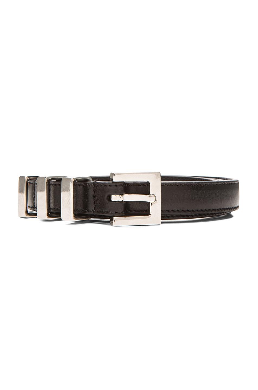 Image 3 of Saint Laurent Trois Passants Belt in Black