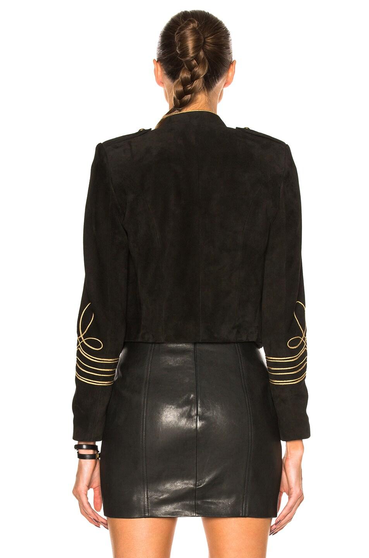 Image 4 of Saint Laurent Suede Officer Jacket in Black Gold