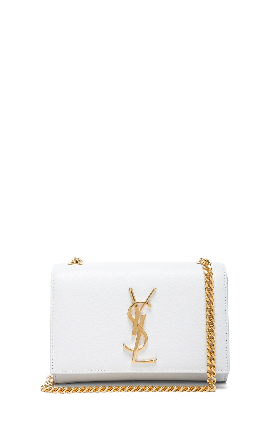 Image 1 of Saint Laurent Small Monogramme Chain Bag in Optic White