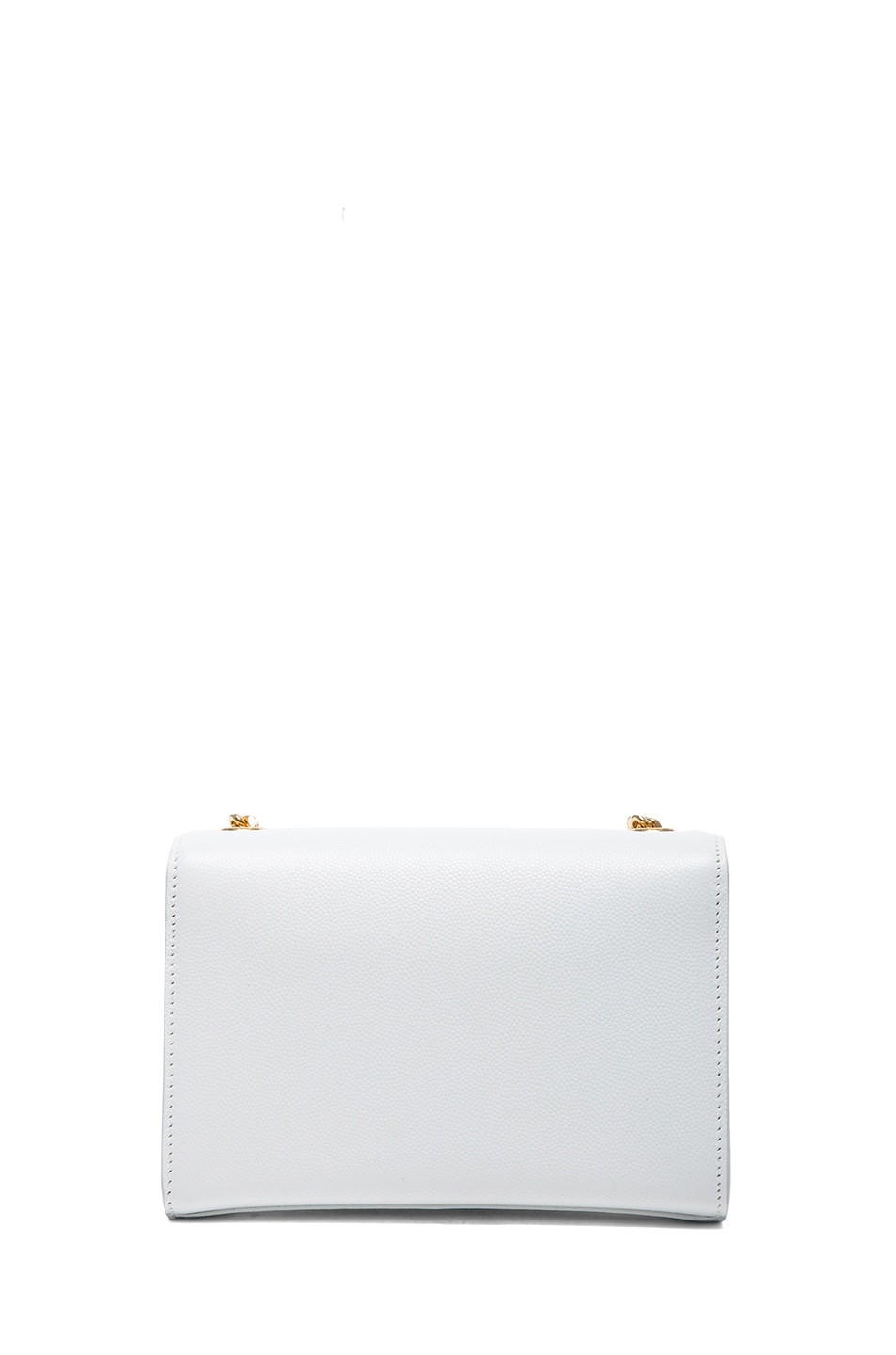 Image 2 of Saint Laurent Small Monogramme Chain Bag in Optic White