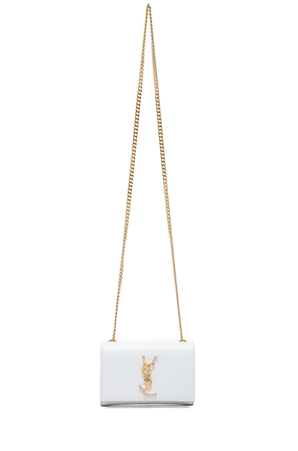 Image 5 of Saint Laurent Small Monogramme Chain Bag in Optic White