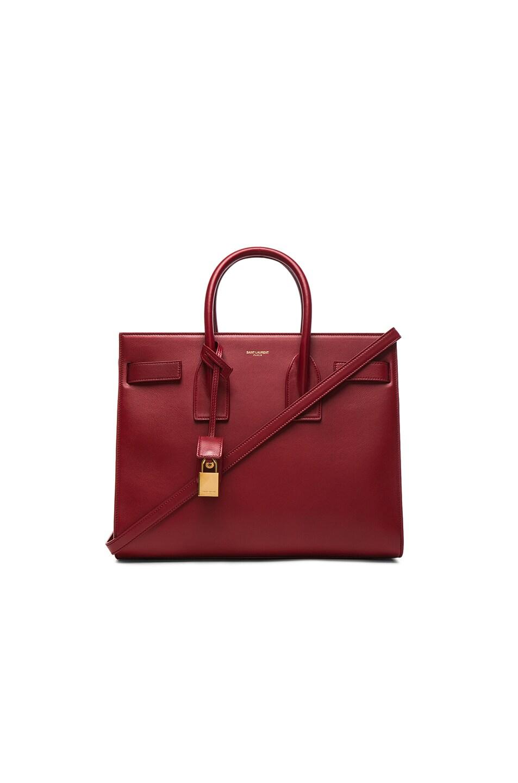 vogue replica handbags - SAINT LAURENT Classic Small Sac De Jour Bag In Yellow Leather