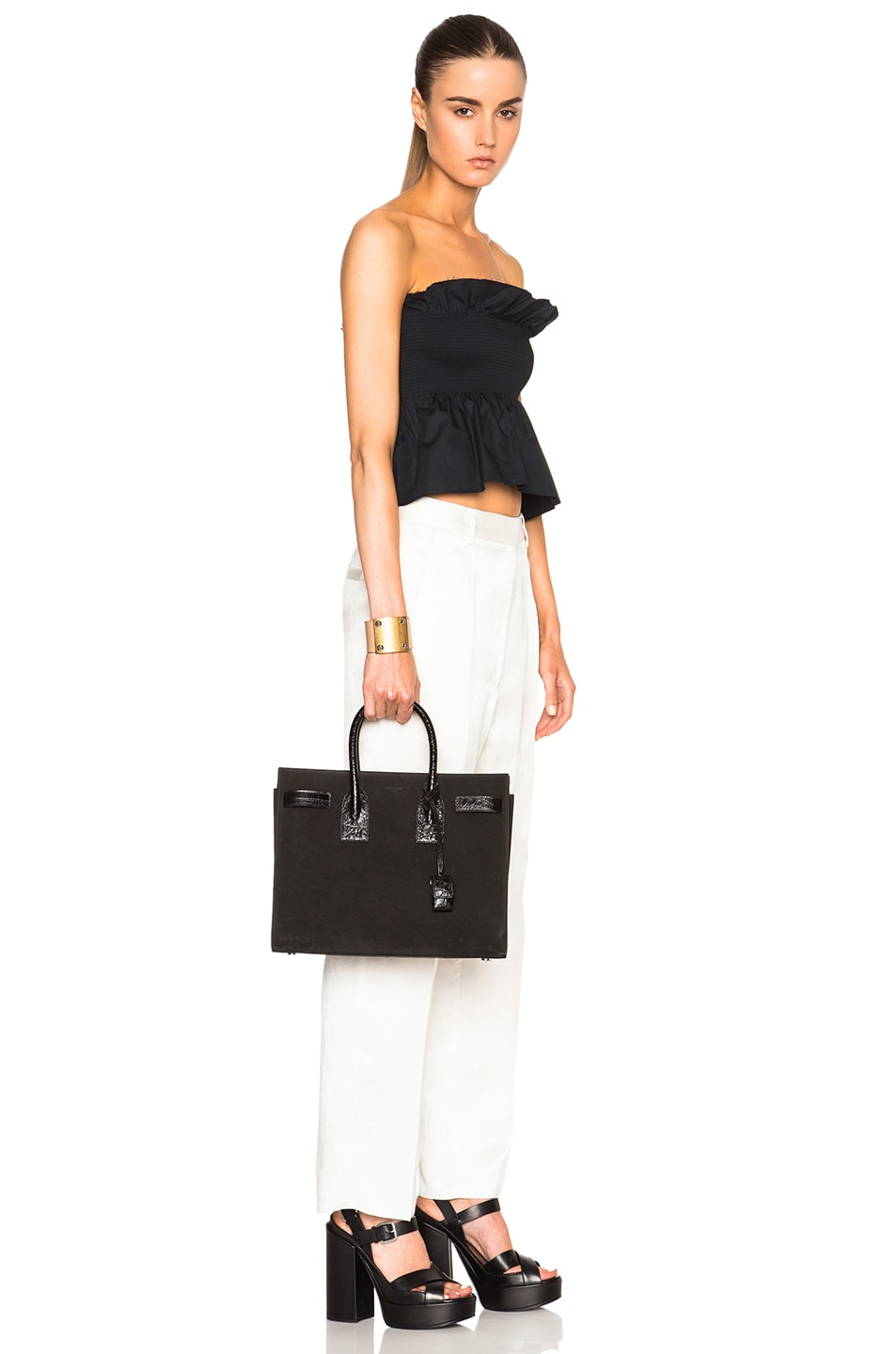 ysl india website - yves saint laurent small suede croc embossed sac de jour, yves st ...