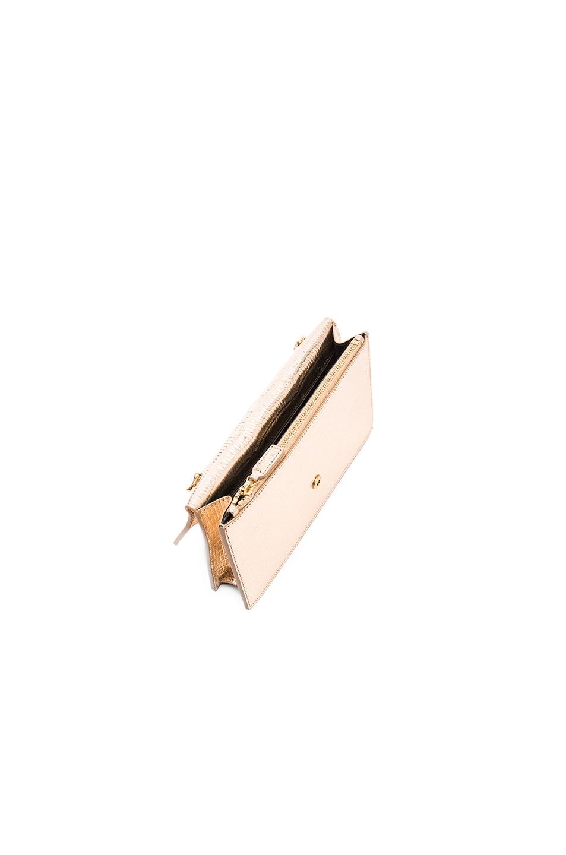 monogram saint laurent envelope chain wallet in dove white grain de ... c76d761154910