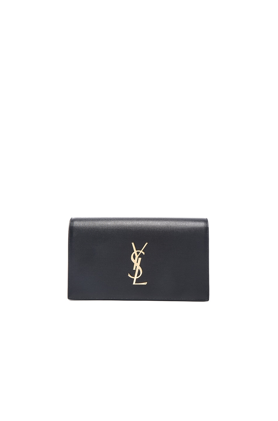 ysl purple shoes - monogram saint laurent envelope chain wallet in white and black ...