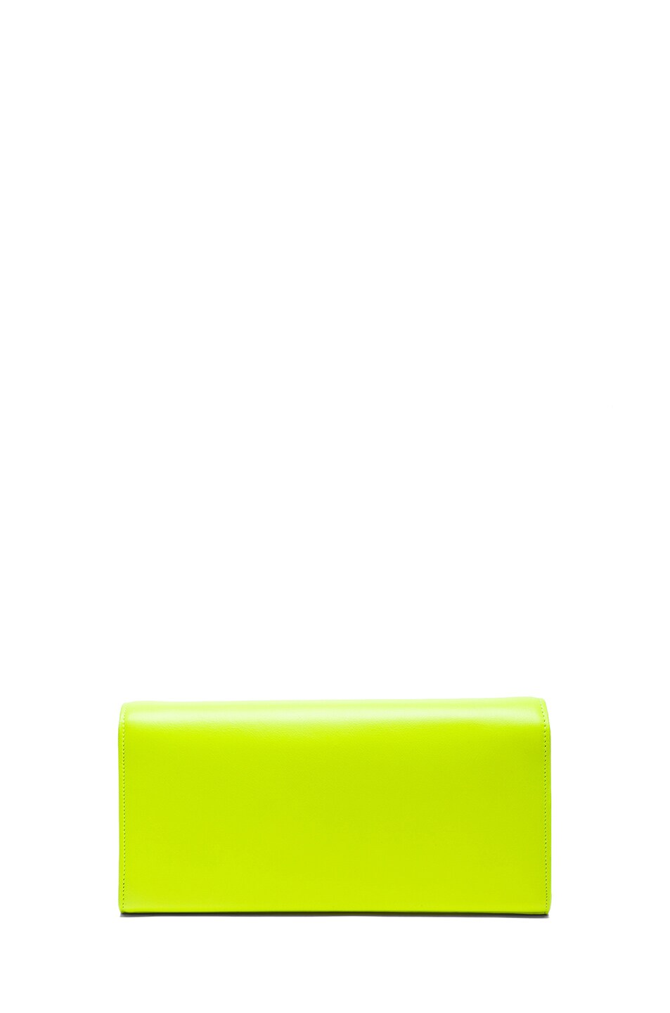 Image 2 of Saint Laurent Monogramme Clutch in Neon Yellow