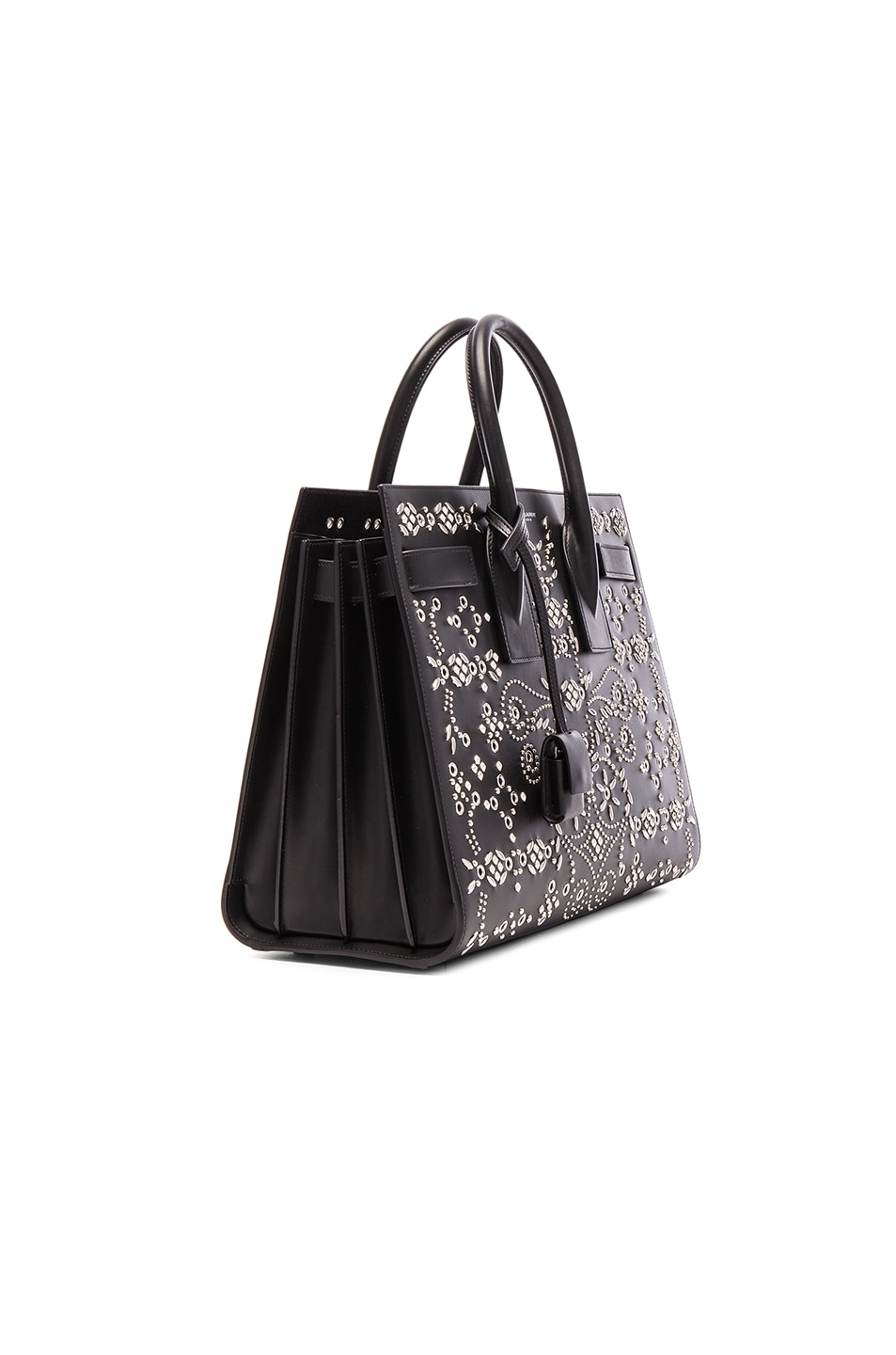 ysl black tote - Saint Laurent Small Bandana Embroidery Sac De Jour in Black | FWRD