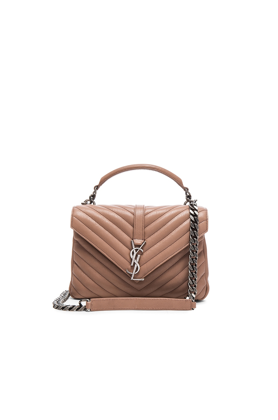 ecf23a0a4685 yves saint laurent college monogram quilted leather .