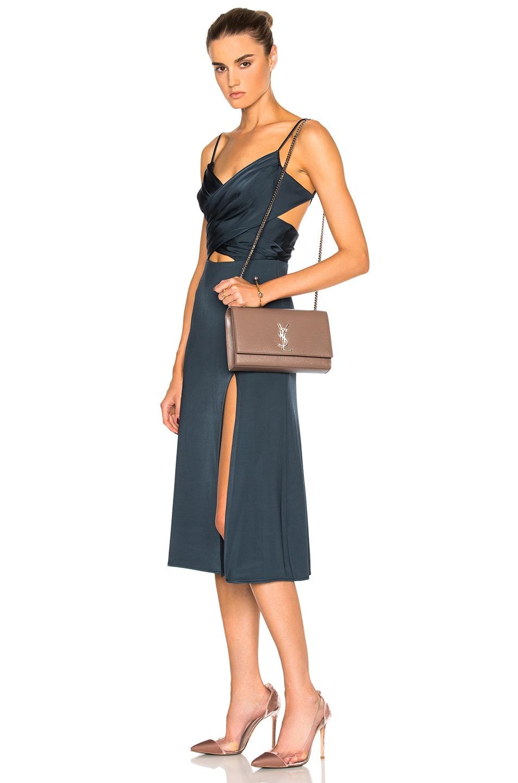 Image 2 of Saint Laurent Medium Monogramme Kate Chain Bag in Fard