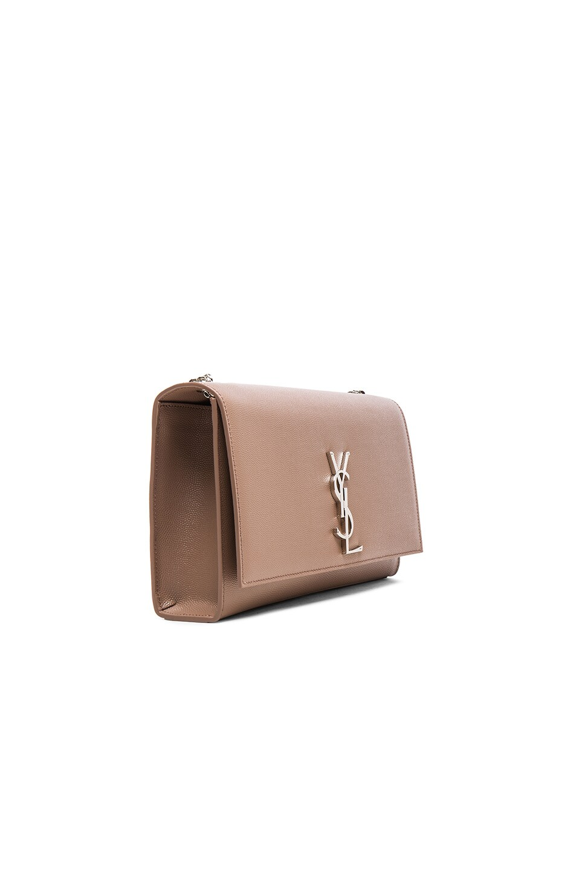 Image 4 of Saint Laurent Medium Monogramme Kate Chain Bag in Fard
