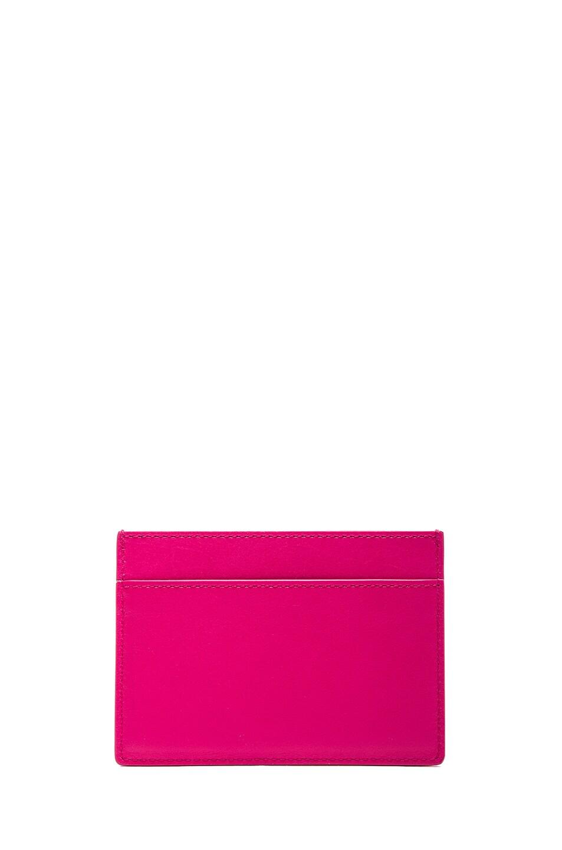 Image 2 of Saint Laurent Credit Card Case in Lipstick Fuchsia