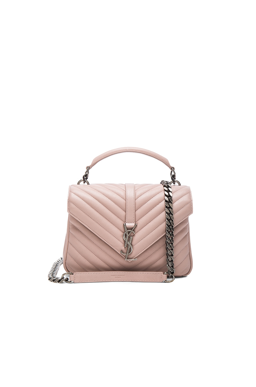 dfc1dfe32609 SAINT LAURENT Medium College Monogramme Chain Bag