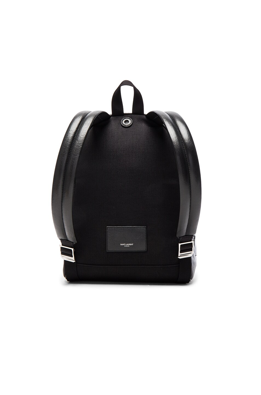 Image 2 of Saint Laurent City Mini Star Backpack in Black & Multi Color