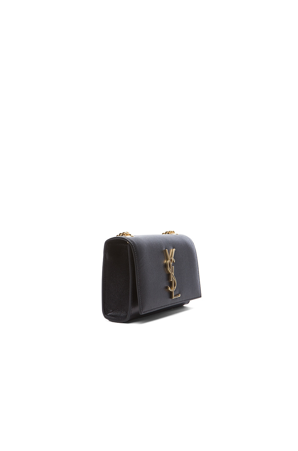 Image 4 of Saint Laurent Small Monogramme Chain Bag in Black