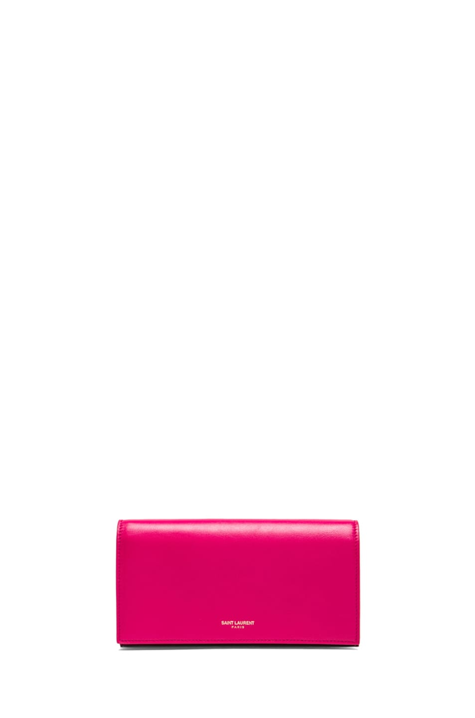 Image 1 of Saint Laurent Large Flap Wallet in Lipstick Fuchsia