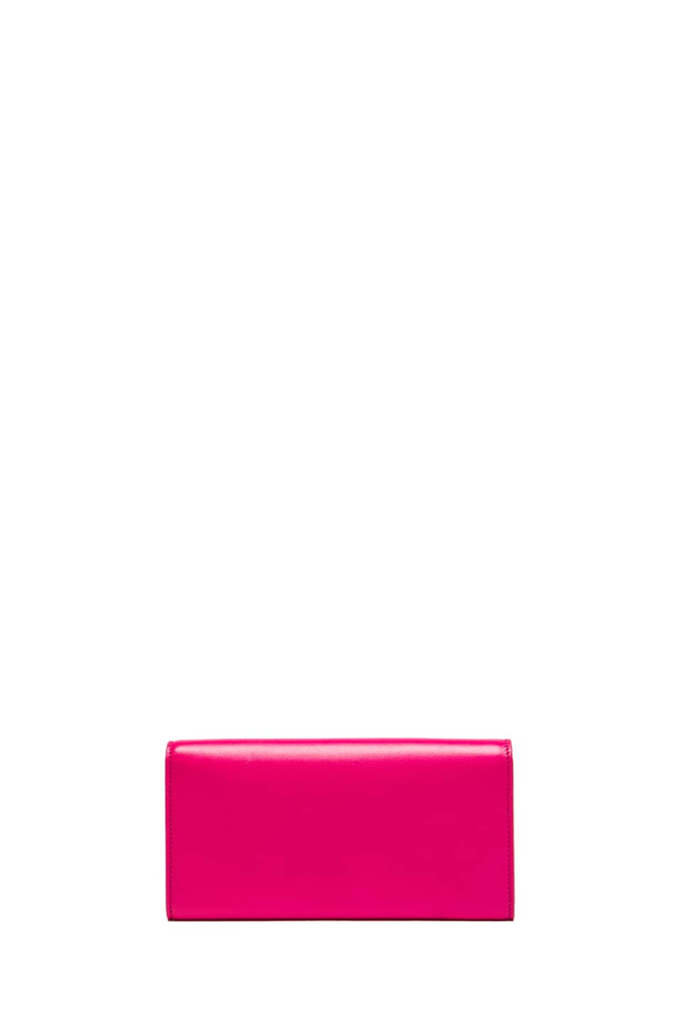 Image 2 of Saint Laurent Large Flap Wallet in Lipstick Fuchsia