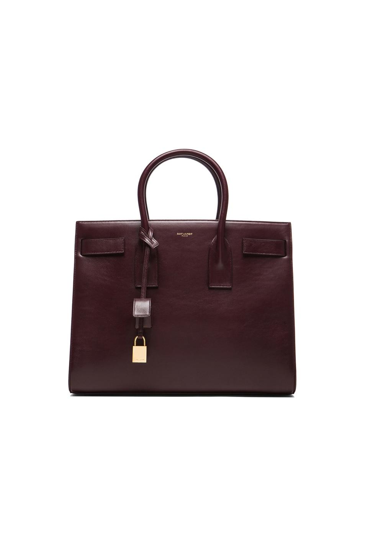 saint laurent cabas chyc - classic baby sac de jour bag in royal blue grained leather