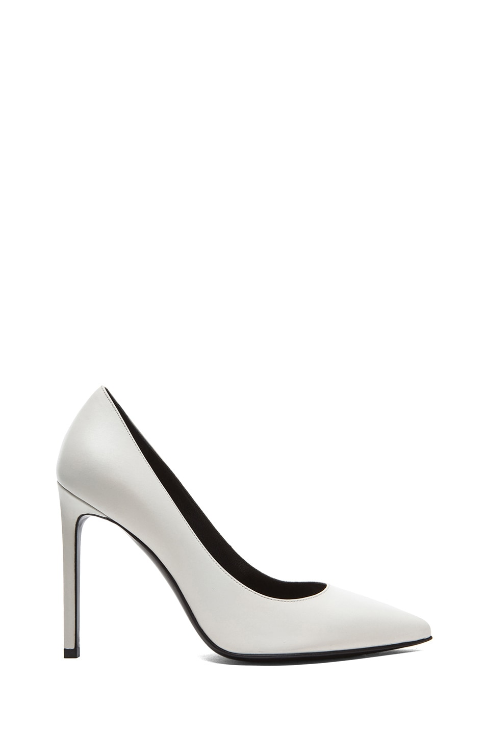 Image 1 of Saint Laurent Paris Calfskin Leather Pumps in White
