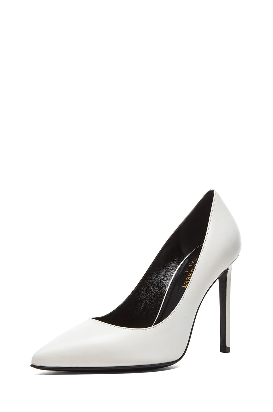 Image 2 of Saint Laurent Paris Calfskin Leather Pumps in White