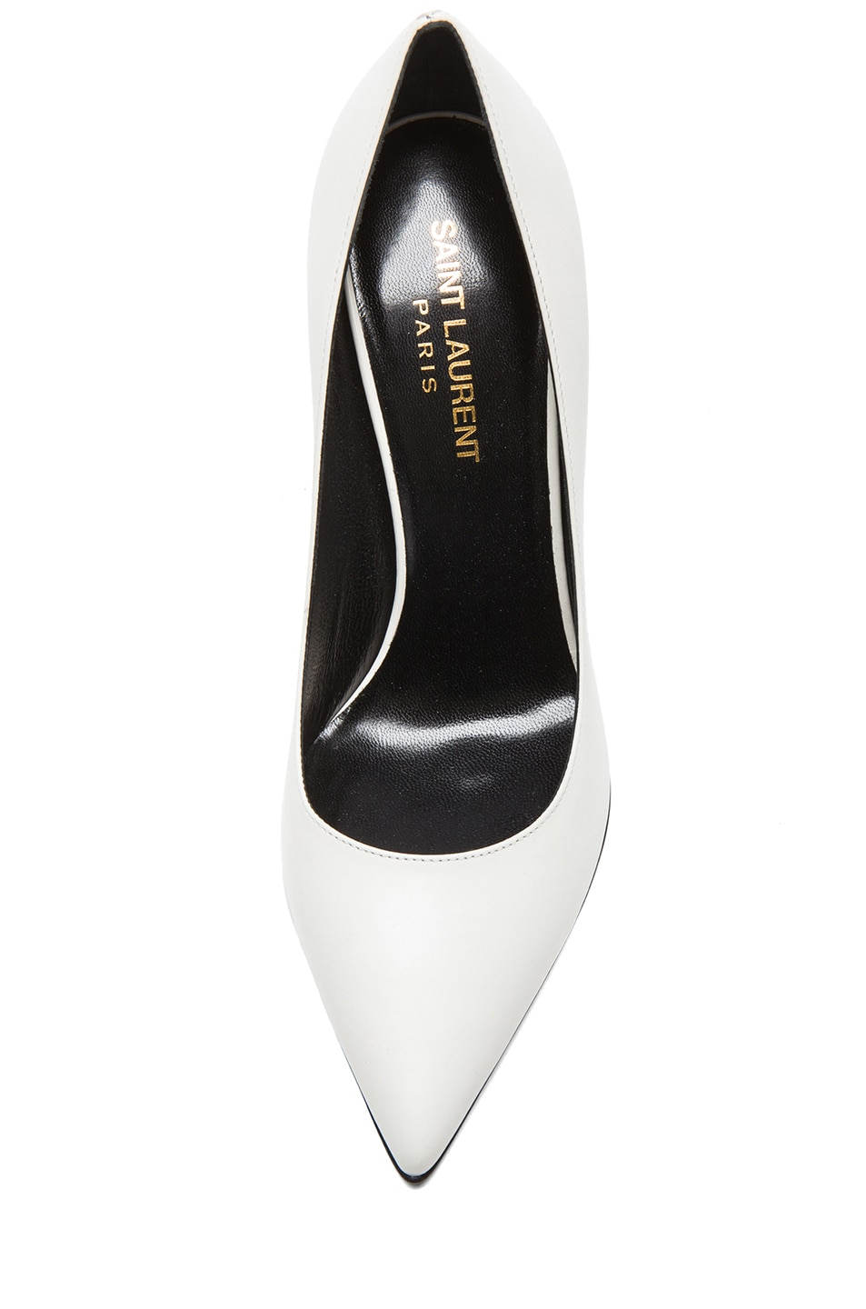 Image 4 of Saint Laurent Paris Calfskin Leather Pumps in White