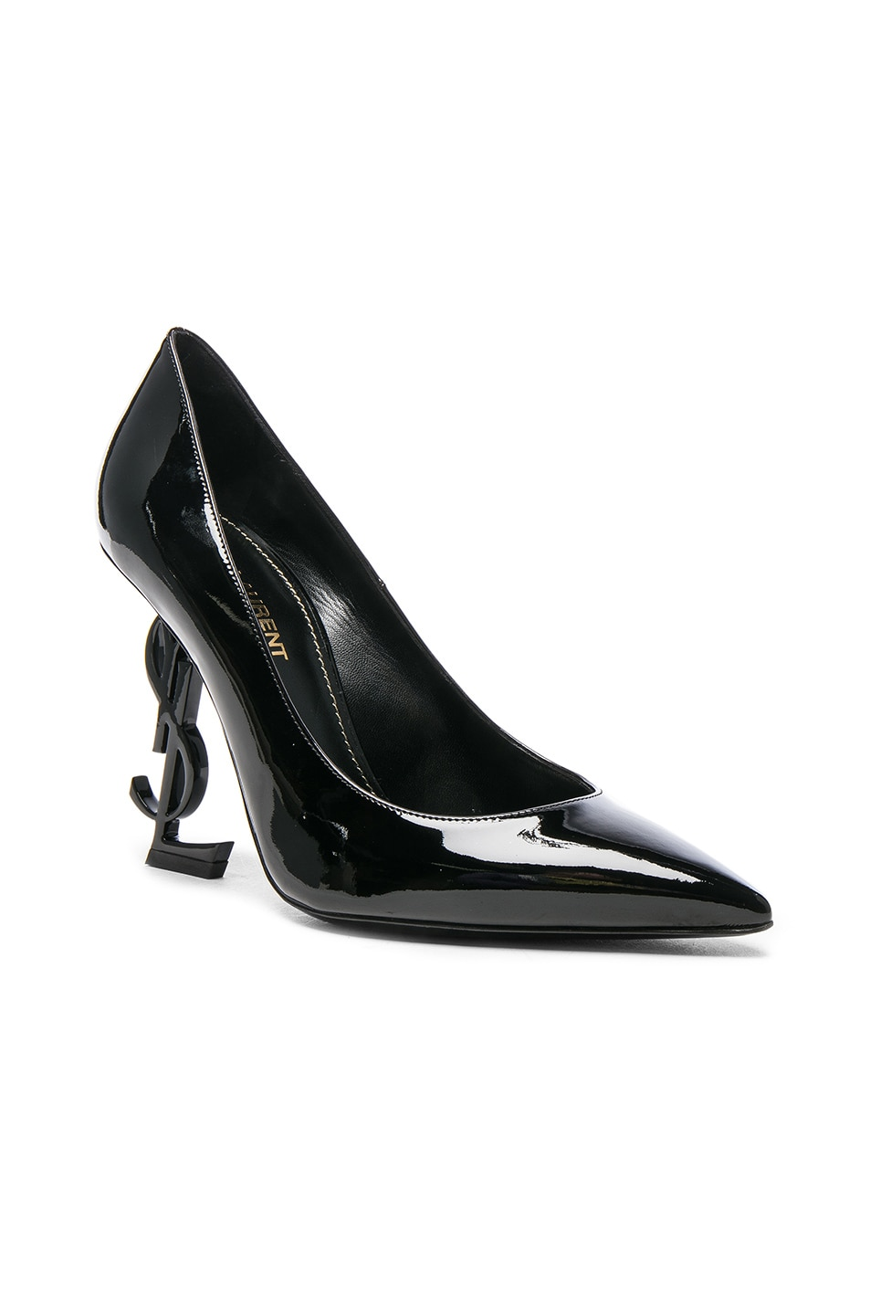 Saint Laurent Black Patent Leather Tribute Strappy