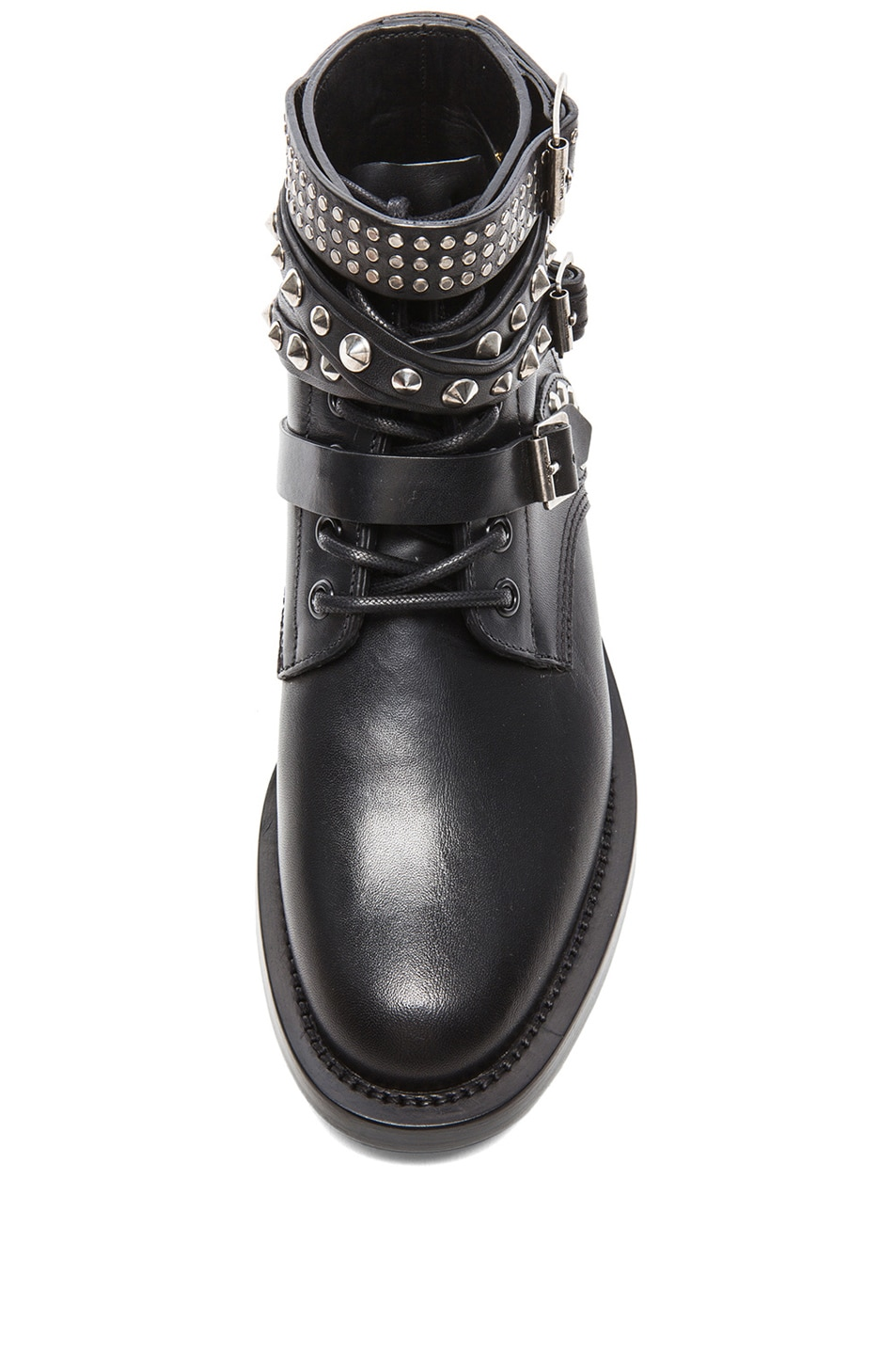 Image 4 of Saint Laurent Rangers Studded Low Combat Boots in Black