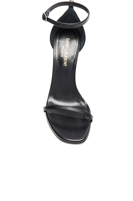 Image 4 of Saint Laurent Leather Jane Sandals in Black