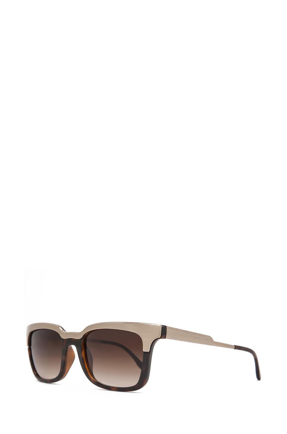 Image 2 of Stella McCartney Sunglasses in Brown Gradient & Gold