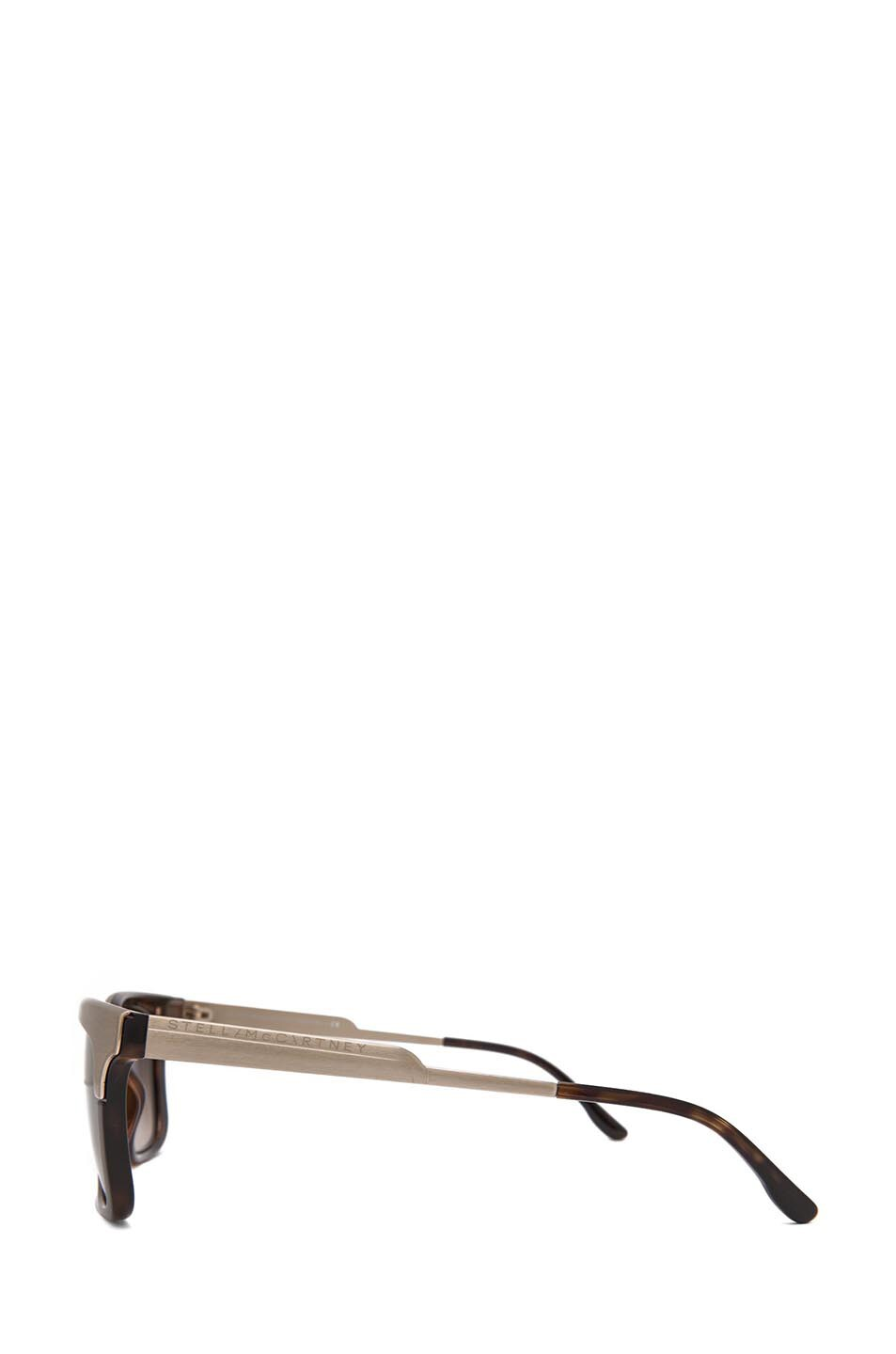 Image 3 of Stella McCartney Sunglasses in Brown Gradient & Gold