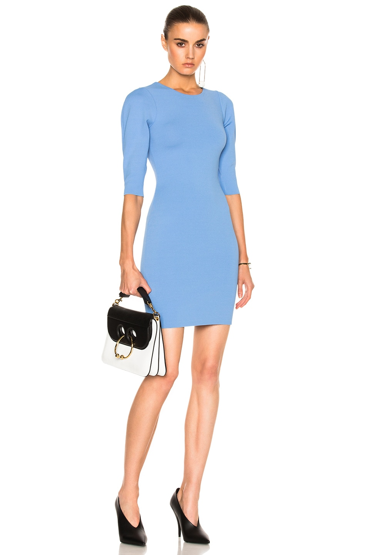 Image 1 of Stella McCartney Slashed Volume Dress in Dark Sky Blue