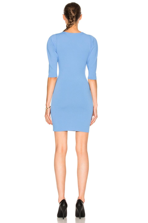 Image 4 of Stella McCartney Slashed Volume Dress in Dark Sky Blue