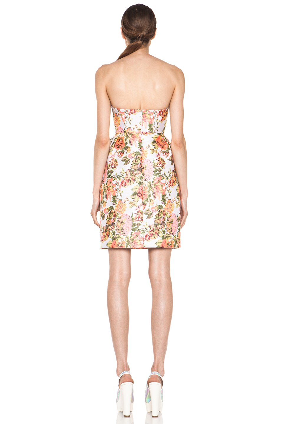 Image 4 of Stella McCartney Floral Jacquard Dress in Coral