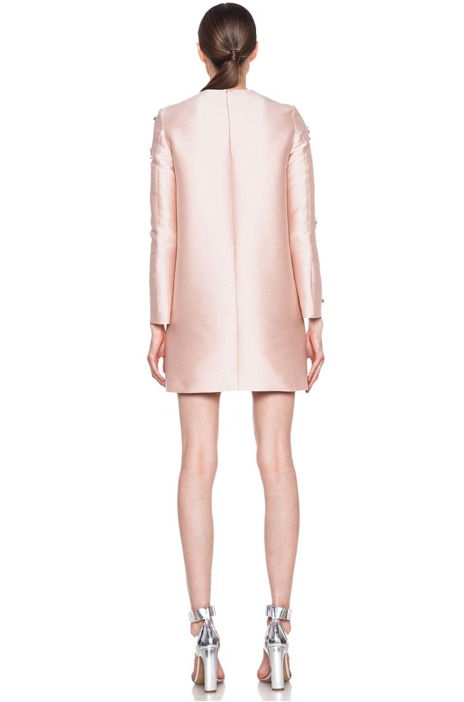Image 4 of Stella McCartney Embellished Cotton-Blend Dress in Rose