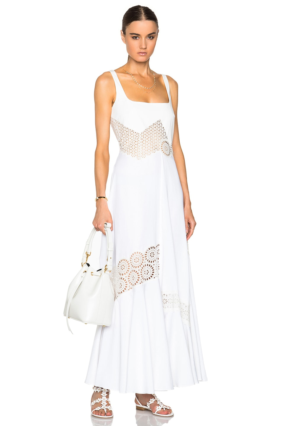 Image 1 of Stella McCartney Sacha Broderie Anglaise Dress in Ivory