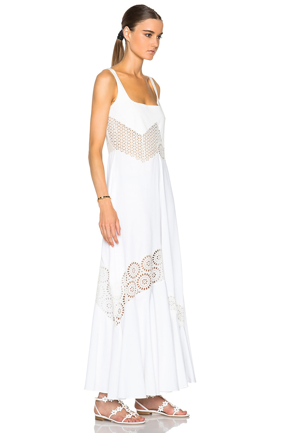 Image 3 of Stella McCartney Sacha Broderie Anglaise Dress in Ivory