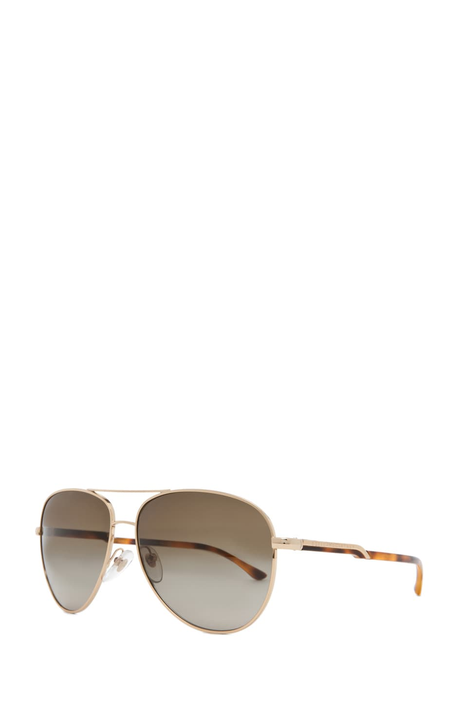 Image 2 of Stella McCartney Aviator Sunglasses in Gold & Blonde