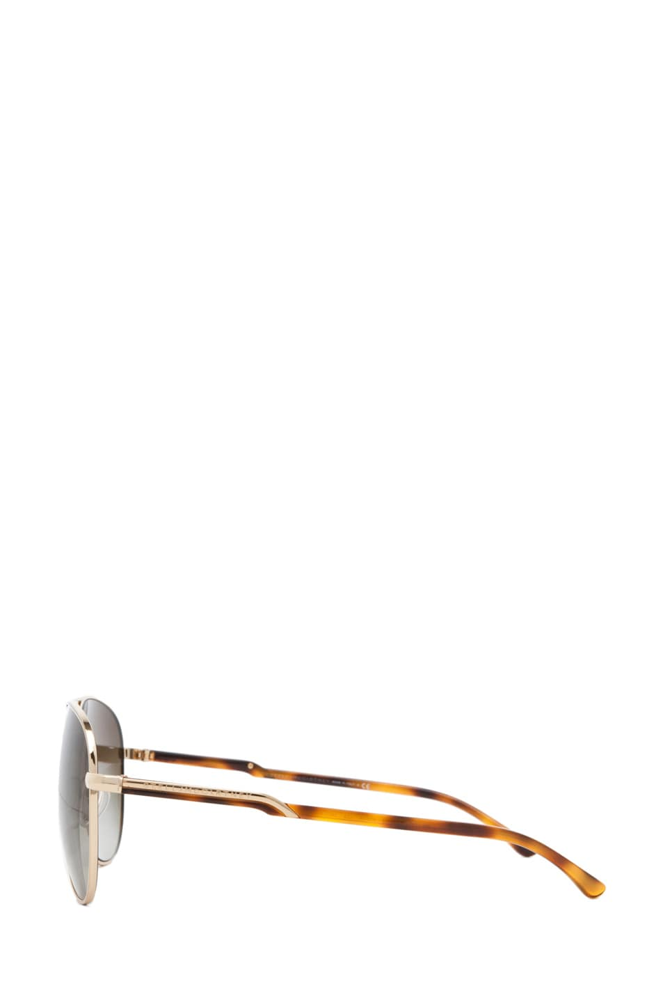 Image 3 of Stella McCartney Aviator Sunglasses in Gold & Blonde